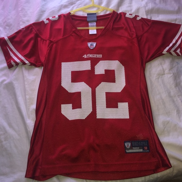 the latest 41a5f aa035 Red Women's Forty Niner's Jersey